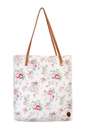 SA3-3-5-AHDG1898LPK LIGHT PINK FLORAL PRINT TOTE BAG/6PCS