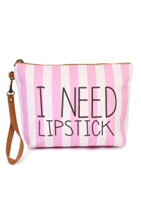 "S4-5-1-AHDG1903 ""I NEED LIPSTICK"" WRISTLET MAKEUP BAG/6PCS"