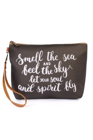 "S4-5-1-AHDG1904 ""SMELL THE SEA..."" WRISTLET MAKE UP BAG/6PCS"