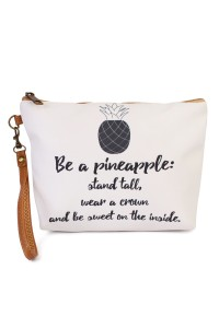 "S7-4-5-AHDG1905 ""BE A PINEAPPLE.."" WRISTLET MAKEUP BAG/6PCS"