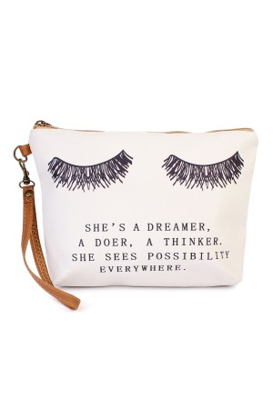 "S18-10-1-AHDG1906 ""SHES A DREAMER..."" WRISTLET MAKEUP BAG/6PCS"