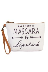 "S4-6-5-AHDG1907 ""MASCARA""  WRISTLET MAKEUP BAG/6PCS"