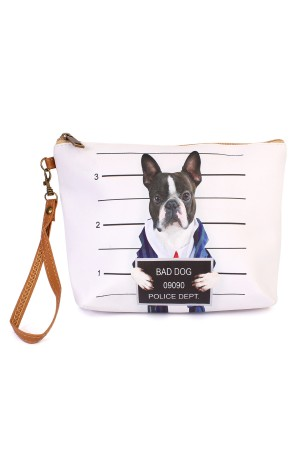 "S5-6-5-AHDG1908 ""BAD DOG"" WRISTLET MAKEUP BAG/6PCS"