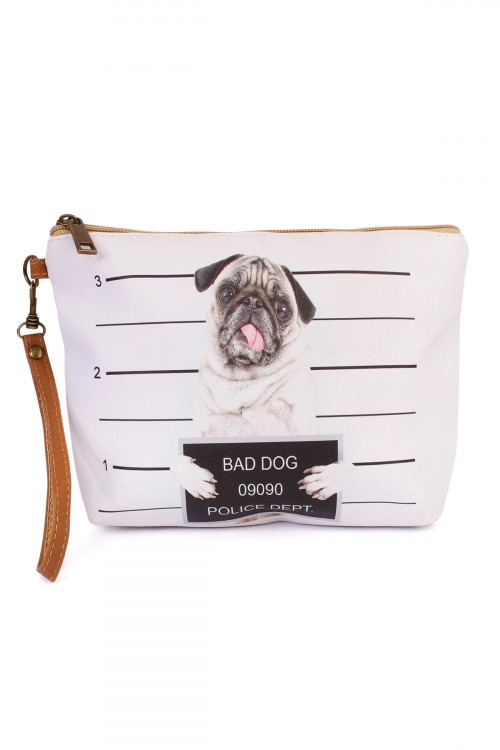 "S7-4-5-AHDG1909 ""BAD DOG"" WRISTLET MAKEUP BAG/6PCS"