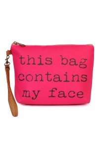 "S5-5-5-AHDG1911FU FUCHSIA ""...MY FACE WRISTLET MAKEUP BAG/6PCS"