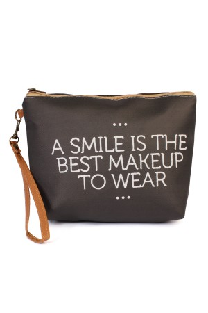 "S18-8-2-AHDG1912 ""A SMILE..."" WRISTLET MAKEUP BAG/6PCS"