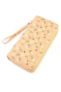 S5-6-1-AHDG1933OR ORANGE FLORAL DOUBLE ZIPPER WALLET/6PCS