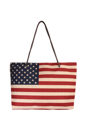 S4-6-1-AHDG1998 USA FLAG TOTE BAG/6PCS