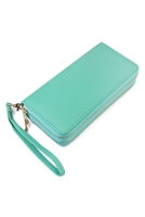 S4-6-4-AHDG2000DMN DARK MINT DOUBLE ZIP AROUND WALLET/6PCS