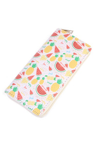 S4-4-1-AHDG2014 SLICED FRUIT PRINT SINGLE ZIPPER WALLET/6PCS