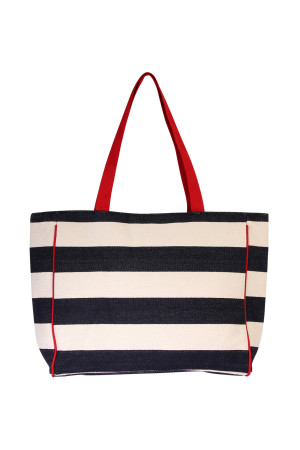 S3-5-2-AHDG2039NV- STRIPED SHOULDER BAG-NAVY/6PCS
