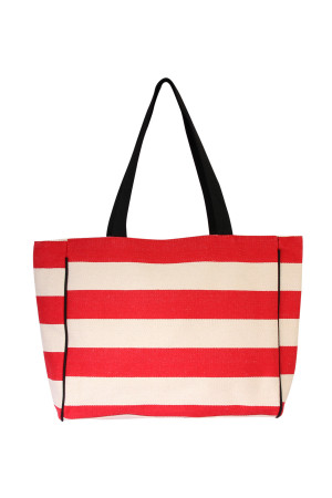 S3-5-2-AHDG2039RD- STRIPED SHOULDER BAG-RED/6PCS