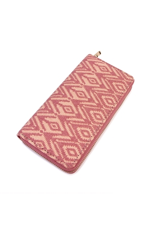 S4-5-1-AHDG2131PK PINK CHEVRON ZIPPER WALLET/6PCS