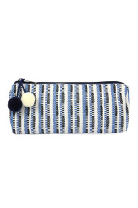 SA4-2-5-AHDG2262BL BLUE BEAUTIFULLY WEAVED COSMETIC BAG/6PCS