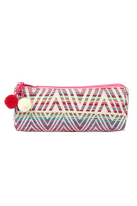 SA4-2-5-AHDG2262LMT LIGHT PINK BEAUTIFULLY WEAVED COSMETIC BAG/6PCS