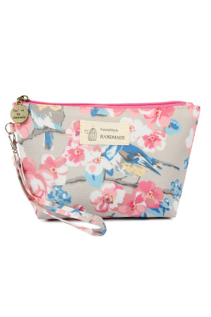 SA4-2-1-AHDG2275-1 BIRD FLORAL WRISTLET COSMETIC BAG/6PCS