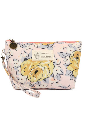SA4-1-5-AHDG2275-6 ROSE ART WORK WRISTLET COSMETIC BAG/6PCS