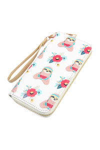 S7-5-1-AHDG2397 SLOTH PRINTED ZIPPER WALLET/6PCS