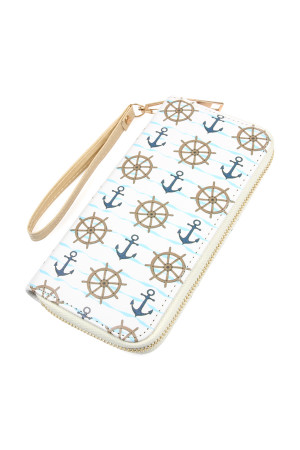 SA3-3-1-AHDG2399 SAILORS PRINTED ZIPPER WALLET/6PCS
