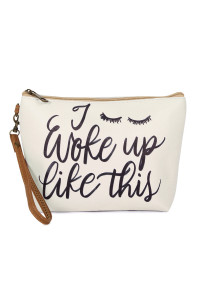 SA6-6-5-AHDG2465 WOKE UP LIKE THIS COSMETIC BAG/6PCS