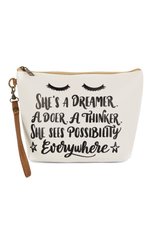 S18-8-3-AHDG2472 SHES A DREAMER COSMETIC BAG/6PCS