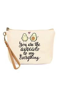 S6-5-5-AHDG2491 AVOCADO COSMETIC BAG/6PCS