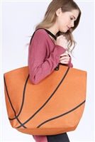 S3-5-1-AHDG2693-1 BASKETBALL LEATHER TOTE BAG/6PCS
