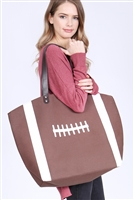 A3-2-5-AHDG2693-2 FOOTBALL LEATHER TOTE BAG/6PCS