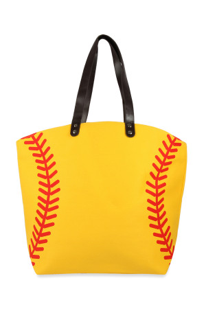 A3-2-5-AHDG2693-4 SOFTBALL LEATHER TOTE BAG/6PCS