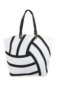 A3-2-5-AHDG2693-7 VOLLEYBALL LEATHER TOTE BAG/6PCS