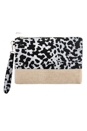 A2-1-1-AHDG2719GY GRAY LEOPARD PRINTED BAG/6PCS