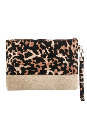 A2-1-1-AHDG2719LBR LIGHT BROWN LEOPARD PRINTED BAG/6PCS