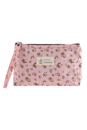 S17-2-4-HDG2827-3 - FLORAL PRINTED COSMETICS BAG - STYLE 3/6PCS