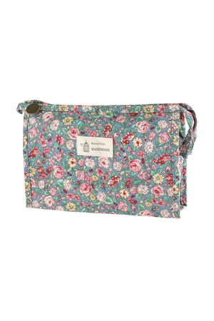 S17-1-4-AHDG2828-1 STYLE 1 FLORAL COSMETICS BAG/6PCS