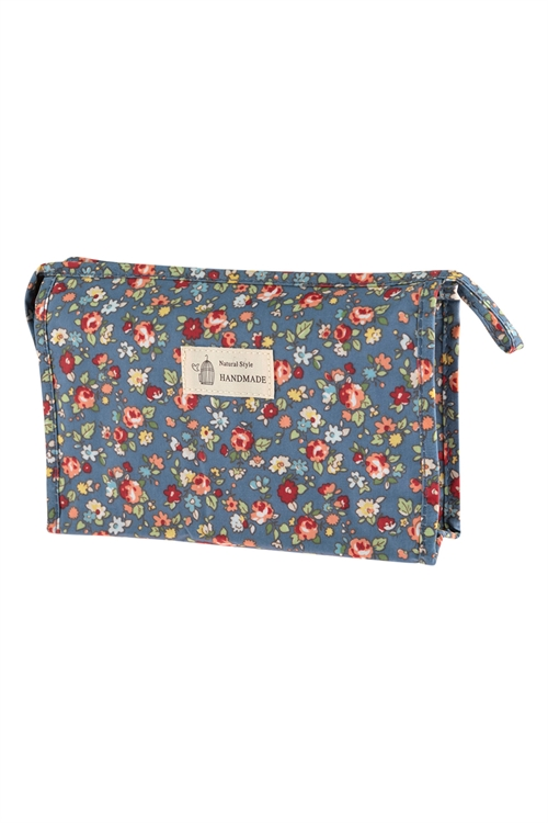 A2-1-1-AHDG2828-6 STYLE 6 FLORAL COSMETICS BAG/6PCS