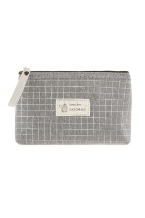 S3-10-1-AHDG2910GY GRAY SQUARE PRINT COSMETIC BAG/6PCS