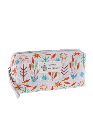 S23-8-4/S23-8-5-HDG3010-5 STYLE 5 LEAF PRINT COSMETIC BAG /6PCS