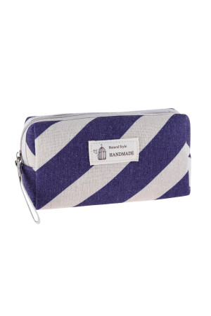 S23-8-4/S23-8-5-HDG3010-6 STYLE 6 STRIPE VIOLET PRINT COSMETIC BAG/6PCS