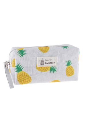 S23-8-4/S23-8-5-HDG3010-7 STYLE 7 PINEAPPLE PRINT COSMETIC BAG/6PCS