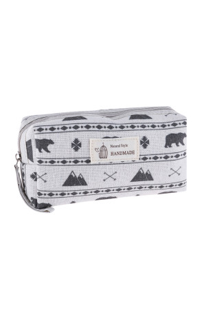 S23-8-4/S23-8-5-HDG3010-9 STYLE 9 BEAR PRINT COSMETIC BAG/6PCS