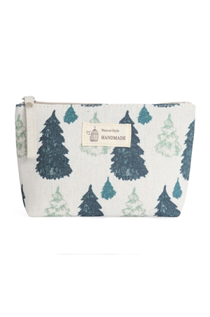 S23-7-5-HDG3011-1 -PINE TREE PRINT COSMETIC POUCH/6PCS