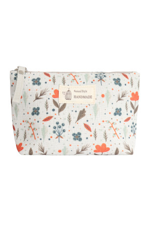 S23-7-4/S23-7-5-HDG3011-2 STYLE 2 TINY PLANT PRINT COSMETIC POUCH/6PCS