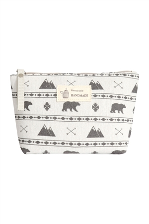 S23-7-4/S23-7-5-HDG3011-3 STYEL 3 BEAR PRINT COSMETIC POUCH/6PCS