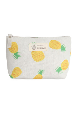 S23-7-4/S23-7-5-HDG3011-6  STYLE 6 PINEAPPLE PRINT COSMETIC POUCH/6PCS