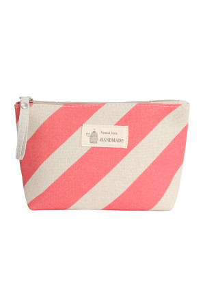 S23-7-4/S23-7-5-HDG3011-7 STYLE 7 STRIPE RED COSMETIC POUCH/6PCS