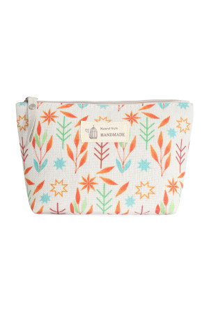 S23-7-4/S23-7-5-HDG3011-8 STYLE 8 LEAF PRINT COSMETIC POUCH/6PCS