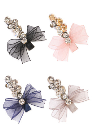SA4-2-3-AHDH1785MIX ASSORTED BOW AND FLOWER HAIR CLIP/6PCS