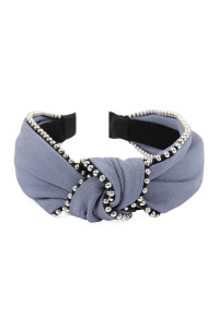 SA4-1-1-AHDH2366GY BLUE GRAY KNOTTED HEADBANDS/6PCS