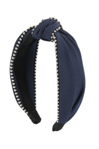 S4-4-5-AHDH2366NV NAVY KNOTTED HEADBANDS/6PCS