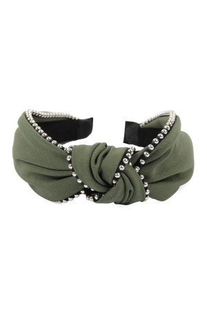 SA4-2-1-AHDH2366OV OLIVE KNOTTED HEADBANDS/6PCS